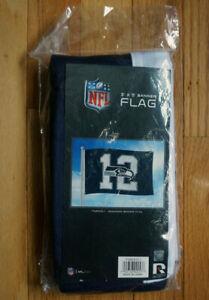 Licensed NFL Seattle Seahawk 3' X 5' 12th Man Banner Flag  Brand New