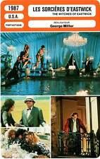 FICHE CINEMA : LES SORCIERES D'EASTWICK Nicholson,Pfeiffer,Cher 1987 Witches...