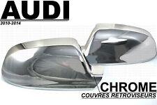 AUDI 09-14 A3 S3 A4 B8 A5 S5 8T CACHES COQUES RETROVISEURS CHROME SLINE QUATTRO