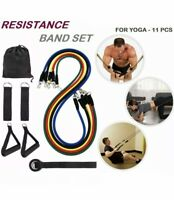 11Pcs Yoga Resistance Bands Set for Home Gym Yoga Sports Exercise Fitness Tubes
