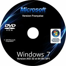 DVD WINDOWS 7 SP1 - 32/64 BITS - TOUTES VERSIONS (STARTER,FAMILLE,PRO,ULTIMATE)✅