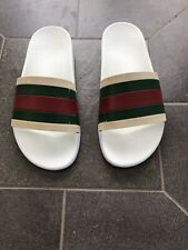$210 Authentic GUCCI Men Slippers Pursuit '72 Sport Slide, Made In Italy, Size 8