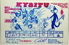 Cartolina QSL Radioamatori Tom And Jerry USA Edison 1974 New Jersey World Teleco
