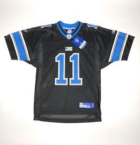 Roy Williams #11 Detroit Lions Reebok Mens Medium Black Blue NFL Jersey Retro