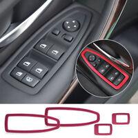 Neü Auto Rot- Aluminum Rahmen Fensterheber Schalter für BMW 3er F30 F34 320