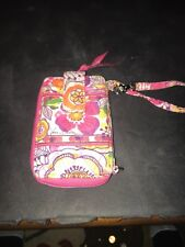 Vera Bradley Wristlet Happy Snails Print Cell Phone Holder Wallet Clutch