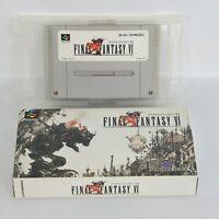 Super Famicom FINAL FANTASY VI 6 FF6 No Instruction cbn Nintendo sf