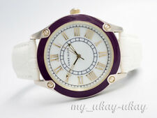 ANNE KLEIN AK/1782 Mother Or Pearl White Dial White Leather Band Ladies Watch