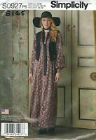 Simplicity 0927 / 8165 Misses' Maxi Dress, Lined Vest and Tie   Sewing Pattern