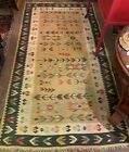 Antique Turkish or Russian Kilim?  Very Soft, Settled Colors Interesting Pattern