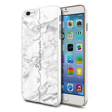 Personalised Marble Phone Case Cover For Apple Samsung Initial Name - Ref C10