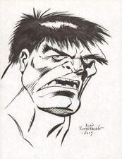 Hulk Portrait in Bruce Timm Style Commission 2009 Signed art by Alan Kupperberg