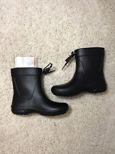 Crocs Womens Freesail Shorty Rain Boots Black Size W4 Shoes NWT