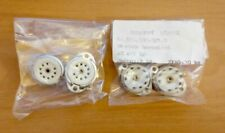 4 pcs 9-pin Noval ceramic tube sockets for chassis-panel mount with solder lugs