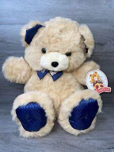 """With Tag -VINTAGE-24"""" Teddy Precious Dan Dee Cream Tan Beige Teddy Bear Plush"""
