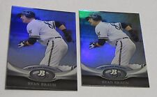 Lot (2) 2011 Topps MLB RYAN BRAUN #17 Platinum Moments Refractor Cards Brewers