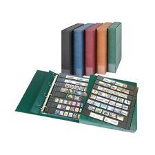 Album combiné Eco garni de 20 feuilles Omnia à 8 bandes pour timbres-poste.