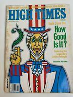High Times Magazine November 1984 Issue Uncle Sam's Pot