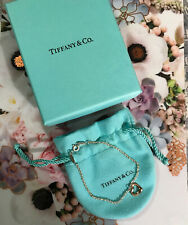 Tiffany & Co Elsa Peretti 18K Rose Gold Heart Sterling Silver Bracelet AUTHENTIC