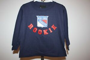 """New- New York Rangers """"Rookie"""" Toddlers size 3T Reebok Long Sleeve Shirt"""