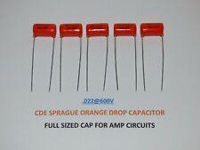 Sprague Orange Drop 715P, film and foil .022uf @ 600V capacitors, set of 5