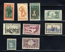 Afrique Occidentale Francaise Madagascar, Maroc, Senegal 9-Stamp Set MNH✨ FILED