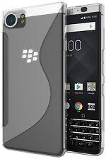New CLEAR High Gloss S TPU Rubber Gel case For BlackBerry KEYone