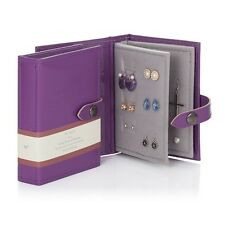 Small Little Book Of Earrings Purple 2 Page Jewellery Box Book Travel Size Gift