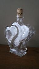 Double Hearts Shape Glass Bottle - 0.5ltr