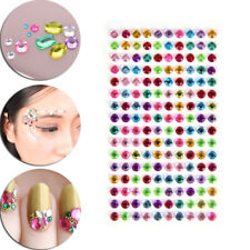 Round Decal Scrapbooking Self Adhesive Rhinestone Bling Stickers Crystal 、 Mj
