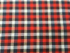 cotton 100% red and navy check fabric a great plaid looking style