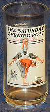 "Collectible Arby'S Norman Rockwell ""The Saturday Evening Post: Leapfrog"" Glass"