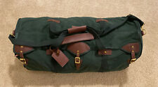 HUGE J.W. Hulme Co Canvas And Leather Classic Duffle Travel Bag Luggage CLEAN