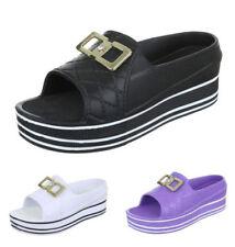 Markenlose Damen-Sandalen & -Badeschuhe aus Gummi Plateau