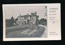 Devon TORQUAY Howden Court Hotel Croft Rd Advert PPC Used 1923