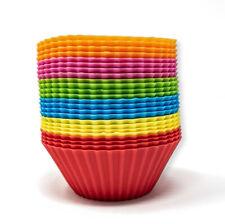 24x bunte Silikon Muffinförmchen Förmchen Becher Muffins Cupcake Backform Form
