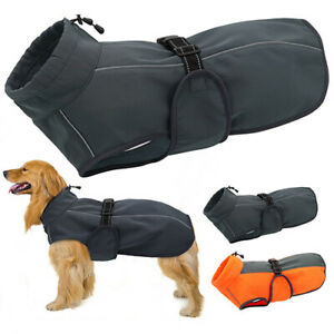 1x Pet Dogs Coats Winter Waterproof Clothes Warm Pets Reflective Jackets Belt
