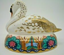 Royal Crown Derby Swan Paperweight by Mark Delf