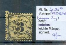 Baden Landpost 2 x Real Postmarked BPP (F7091