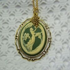 Goddess Cameo Necklace, Demeter Greek Goddess of Wine, Sommelier Wine Lover Gift