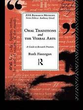 Oral Traditions and the Verbal Arts: A Guide to Research Practices-ExLibrary
