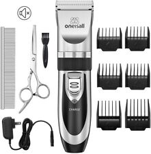 Oneisall Dog Shaver Clippers Low Noise Rechargeable Cordless Electric Quiet Hair