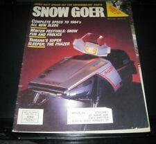 Vintage Snow Goer magazine 1983 polaris yamaha ski doo