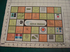vintage Unused Placemat from Springprint: OPTICAL ILLUSIONS