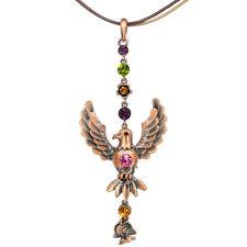 "Hawk Eagle Fish Pendant Necklace Charm Austrian Crystal Multi-color Jewelry 4.7"""