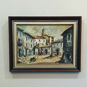 VINTAGE Mid Century J Cortis Streetscape Impressionist Artwork CAN BE MAILED