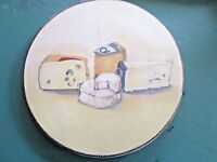 """Williams Sonoma ITALY 10.5"""" Ceramic Cheese Serving Platter Plate Tray MINT"""