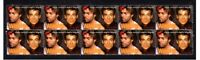 WHAM GEORGE MICHAEL STRIP OF 10 MINT VIGNETTE STAMPS 1