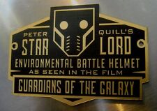 CUSTOM STAR LORD HELMET DISPLAY NAME PLATE GUARDIANS GALAXY STARLORD MASK