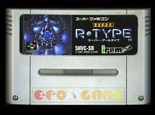 SUPER R-TYPE Super Nintendo SNES Famicom Vers Giapponese NTSC ○○○ SOLO CARTUCCIA